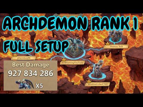 Archdemon L 10.9B L Rank 1 L Full Setup L Castle Clash