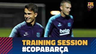Last workout before the cup match against Cultural Leonesa