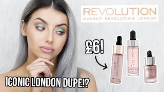 MAKEUP REVOLUTION LIQUID HIGHLIGHTER REVIEW - ICONIC LONDON DUPE!?