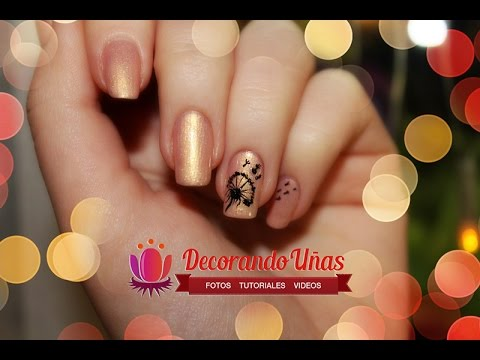 Uñas Decoradas Con Diente De León Diy Youtube