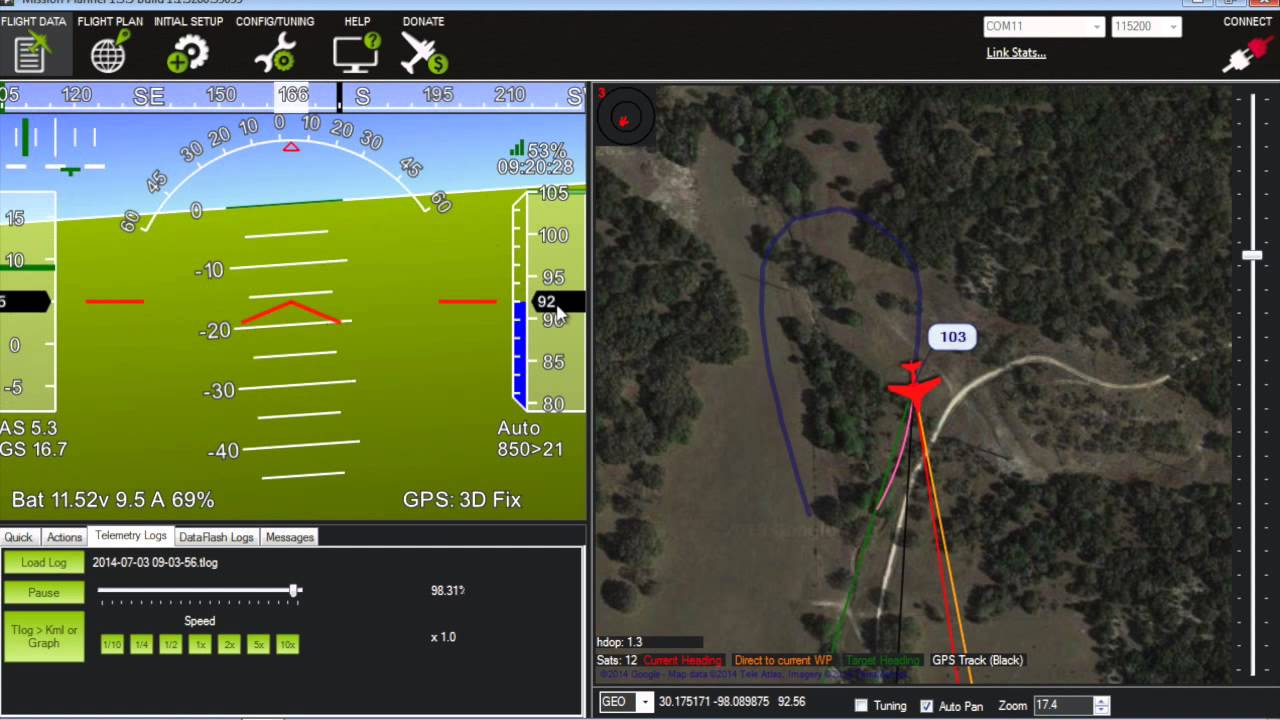 How to Diagnose a Drone/UAV Crash with APM 2 6, Mission Planner, and  Telemetry Logs