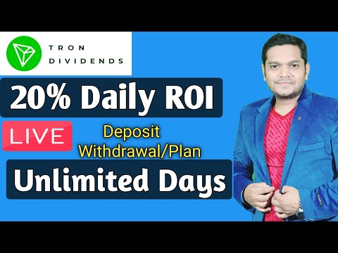 Tron Dividends 20% Daily ROI , Verified Smart Contract《 HINDI 》