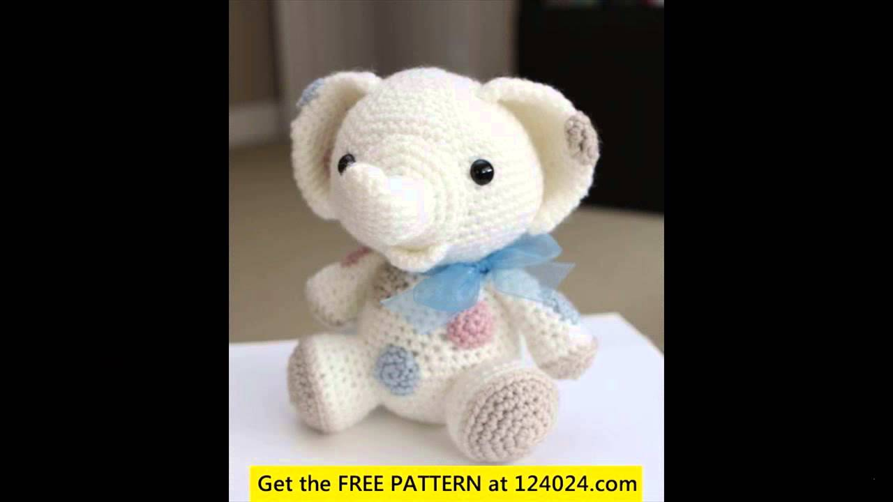 easy crochet elephant free patterns - YouTube