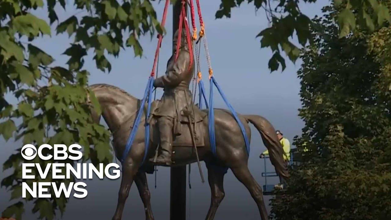 Gen. Lee statue comes down in former Confederate capital