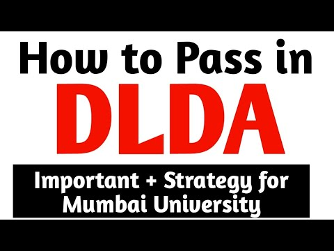How to pass in DLDA  for  Sem 3 | Mumbai university