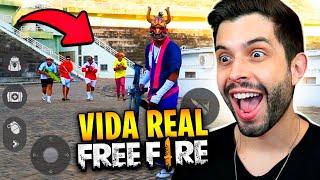 FICOU PERFEITO!! REAGINDO AO NOVO FREE FIRE NA VIDA REAL!!