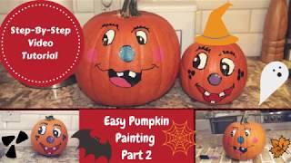 How To Paint Pumpkins Part 2