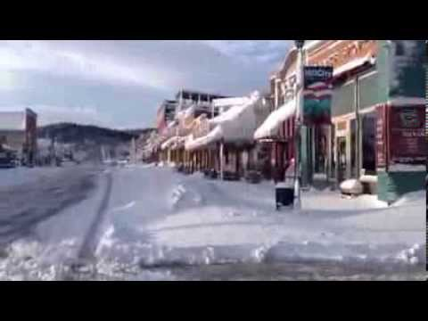 Hill City, SD, U.S.A., the morning after the blizzard