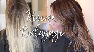 REVERSE BALAYAGE - HOW TO CONVERT ALL OVER BLONDE TO NATURAL BALAYAGE
