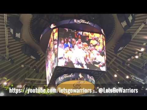 Golden State Warriors jumbotron pregame hype clips, 2017 NBA Finals, Oracle Arena (pregame Game 5)