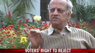 Voters' right to reject candidates