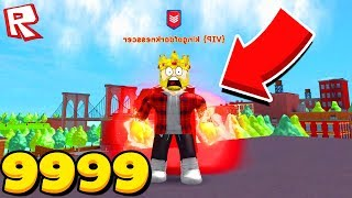 I became the STRONGEST? SPENT A NIGHT IN A VOLCANO! ROBLOX