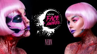 NYX Face Awards Russia 2017 | NEON LIGHTS | #faceawardsrussia2017 #nyxcosmeticsrussia