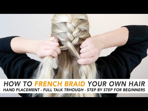 how-to-french-braid-your-own-hair-(the-easiest-5-minute-braid!)-real-time-talk-through---part-1-[cc]