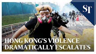 Hong Kong protests: Violence dramatically escalates