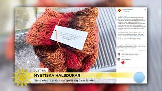 Mystiska halsdukar ska skapa varmare samhälle - Nyhetsmorgon (TV4)