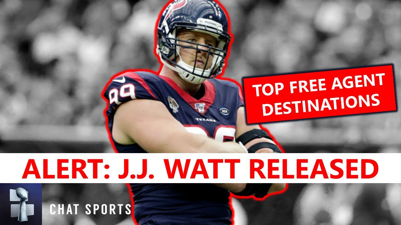 J.J. Watt landing spots: Steelers, Cowboys, Packers among nine ...
