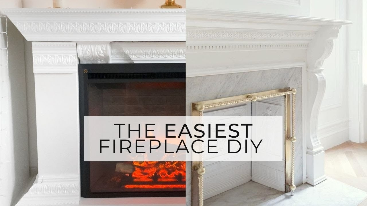 DIY FIREPLACE   IKEA HACK   EASY & AFFORDABLE WITH STORAGE / CUPBOARDS    faux baroque parisian chic
