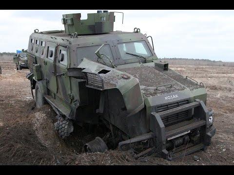 Бронеавтомобілі «Козак» проходять