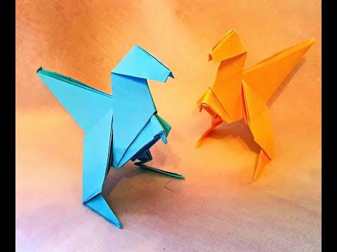 Бумажный динозаврик)!!!!!!))Оригами