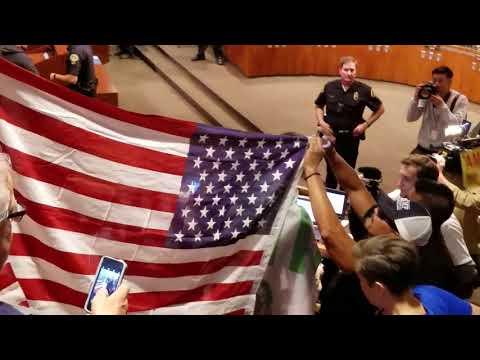 Trump Supporters Take Down Mexican Flag, Raise American Flag