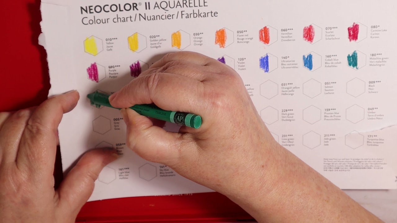 Adult Color Crayons??  Caran D' Ache Neocolor II Watersoluble Wax Pastels