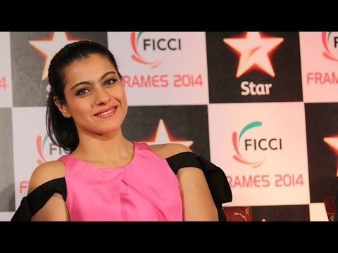 Kajol Looking Awesome in Pink dress at FICCI Frames