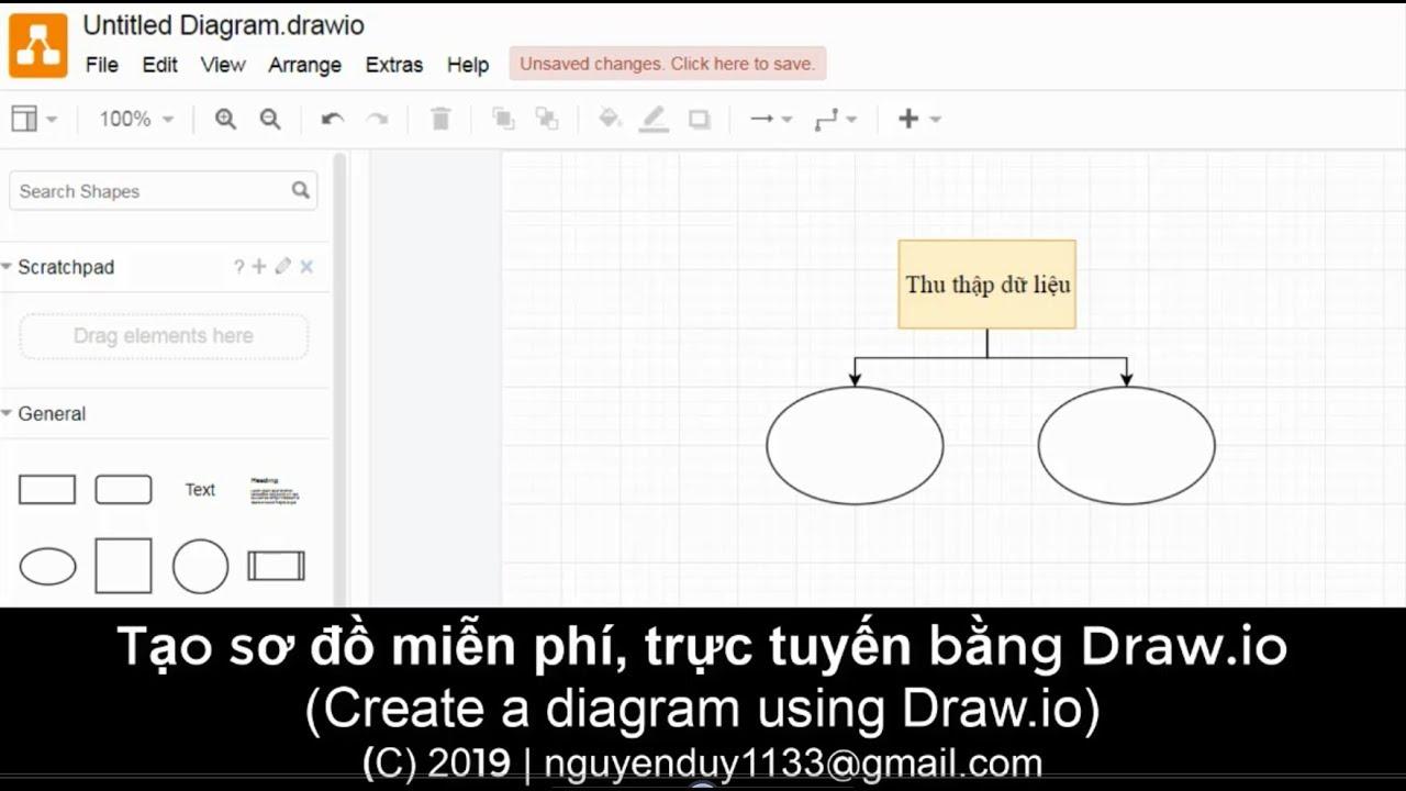 [Draw.io] Tạo sơ đồ miễn phí, trực tuyến bằng Draw.io (Create a diagram using Draw.io)