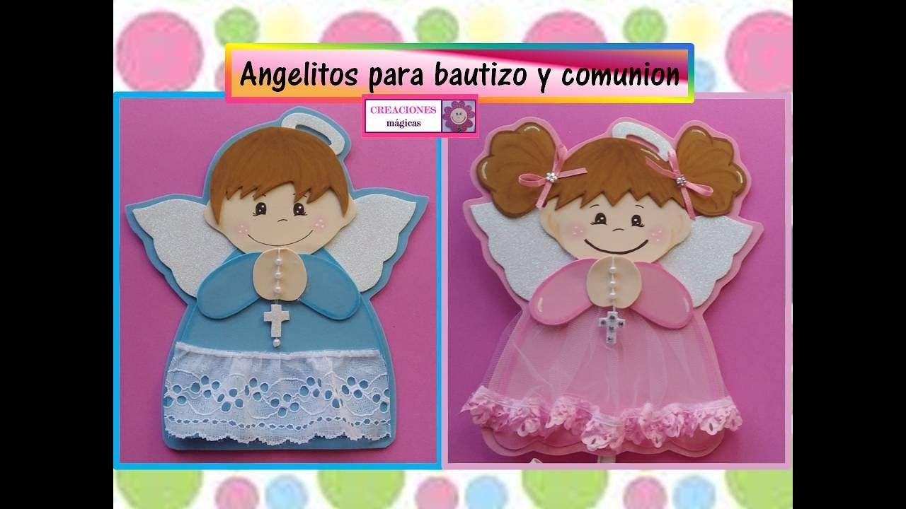 Angelitos De Foamy Para Bautizo O Comunión Creaciones Mágicas