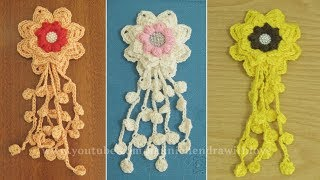 Crochet     Cara Merajut Bunga - Flower Crochet    004