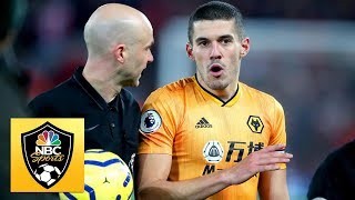 Pedro neto goal disallowed by var against liverpool   premier league nbc sports