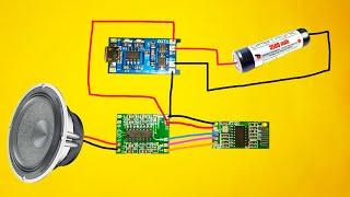 powerful Bluetooth speaker Simple project