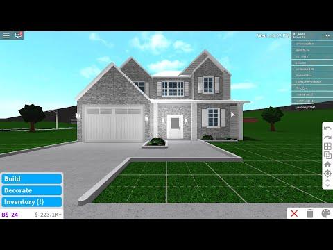 2 story modern house || bloxburg speed build || $10K NO DECOR