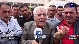 سائقو سيارات السفريات ينفذون وقفة احتجاجية في الرمثا - (23-3-2019)