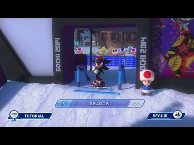 Mario & Sonic en los JJOO de Invierno Sochi 2014 - Snowboard y Carrera de Trineos Bill Bala - HD Travel Video
