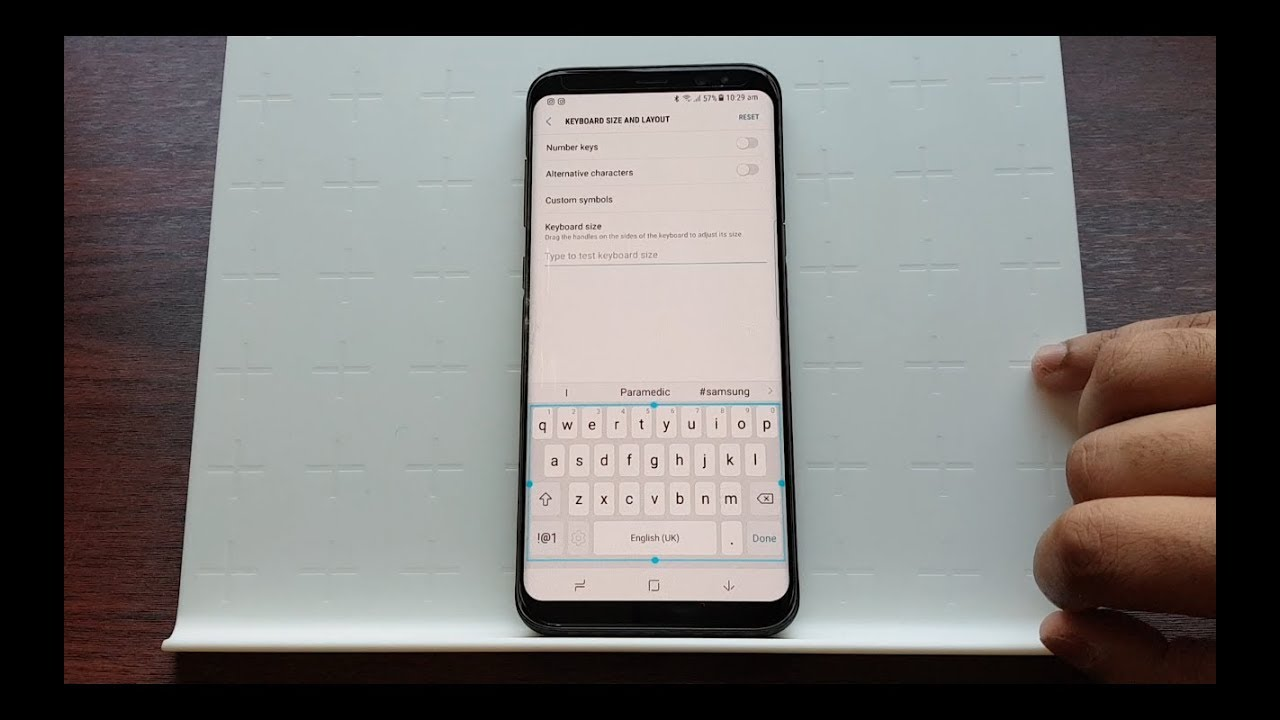 Adjust Keyboard Size / Layout on Samsung Galaxy S8 and S8+