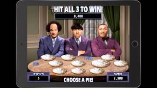 THE THREE STOOGES Video Slot Game with a PIE FIGHT BONUS