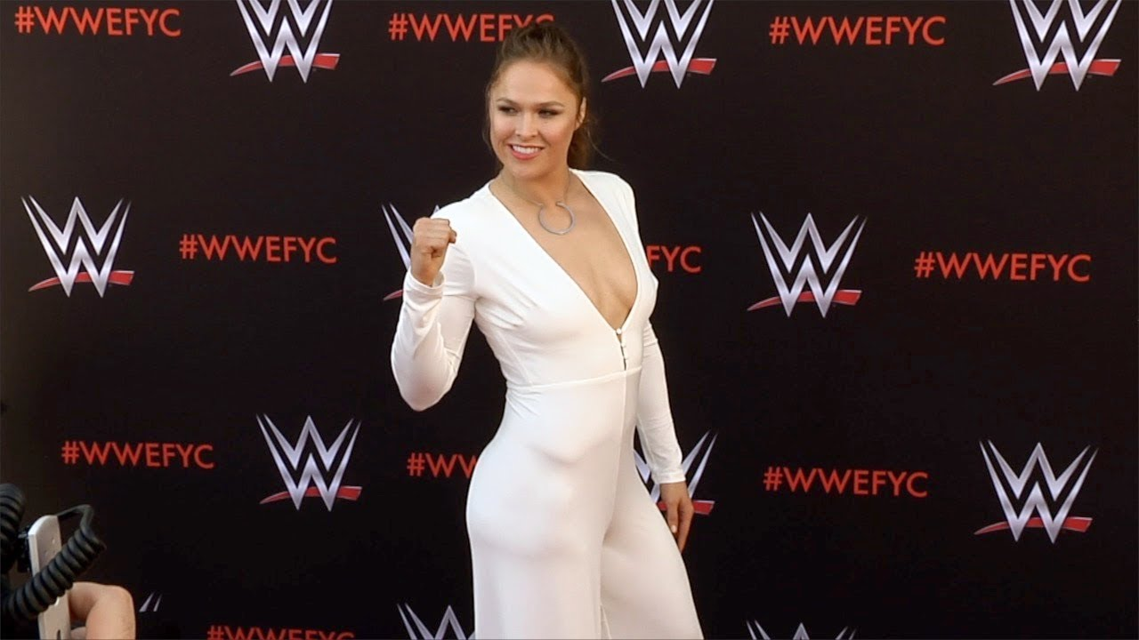 Ronda Rousey Wwe S First Ever Emmy Fyc Event Red Carpet Youtube