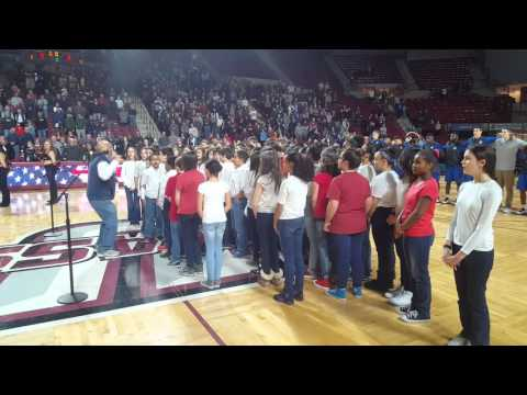 ARMS 7th grade chorus @ UMass Basketball game