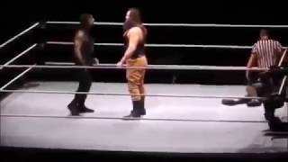 Braun strowman destroy roman reigns and saved by dean ambrosefrom wwe live event 2017
