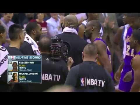 Kobe Bryant Passes Michael Jordan on the NBA