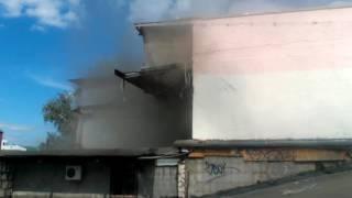 Пожар в Москве на Таганской площади
