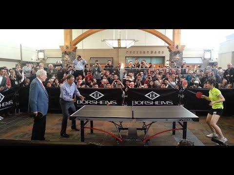 Bill Gates & Warren Buffett Play Ping Pong at Berkshire Hathaway 2013 Meeting