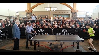 Bill Gates and Warren Buffett Play Ping Pong at Berkshire Hathaway 2013 Meeting