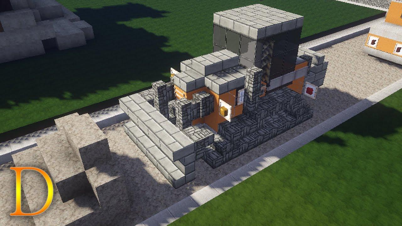MINECRAFT POJAZDY  Jak zbudować buldożer (spychacz   -> Kuchnie Kaflowe Jak Zbudować