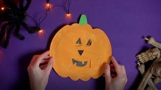 Click here to play the How to create a paper plate pumpkin video