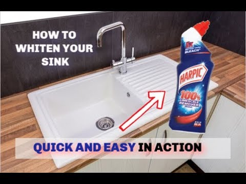 How To Clean Bathroom/Kitchen Sink || Clean and Shine Ceramic & Porcelain Sink 2018