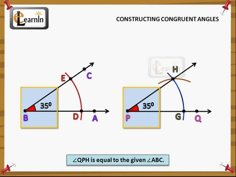 constructing congruent angles geometry youtube. Black Bedroom Furniture Sets. Home Design Ideas