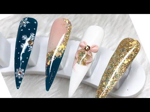 christmas nail design / encapsulating gel polish on