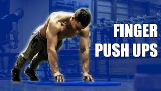 Correct Way to do Push Ups from fingers for ARMWRESTLING